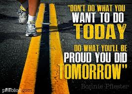 be proud tomorrow